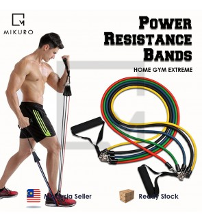 11pcs/Set Power Resistance Bands Training Exercise Yoga Tubes Pull Rope Rubber Elastic Bands Fitness