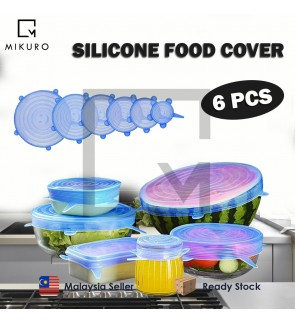 6PCS Silicone Stretch Lids Universal Food Taper Bowl Pot Lid Food Wrap Cover Sealed Silicone Cover f