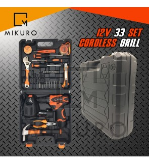 12v Cordless Drill 36pc Set With 2 Battery FREE Flexible 1/4