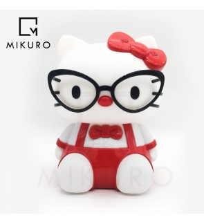 Hello Kitty Spectacle Table Lamp Red and Pink Colour