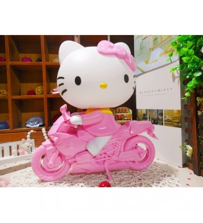 Cute Hello Kitty Motorcycle Table Lamp Reading Lamp Light Decorative