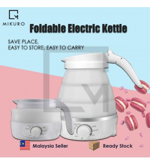 Travel Foldable Electric Kettle Portable Silicone Collapsible Camping Kettle 110-220V 650ML